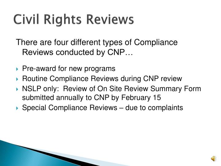 Civil Rights Reviews