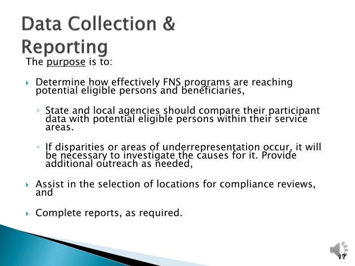 Data Collection &