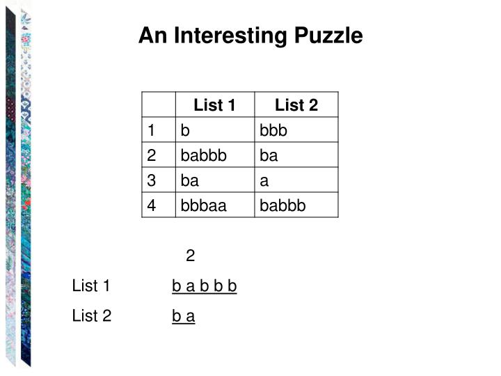 An Interesting Puzzle