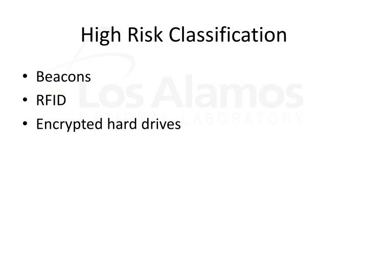 High Risk Classification