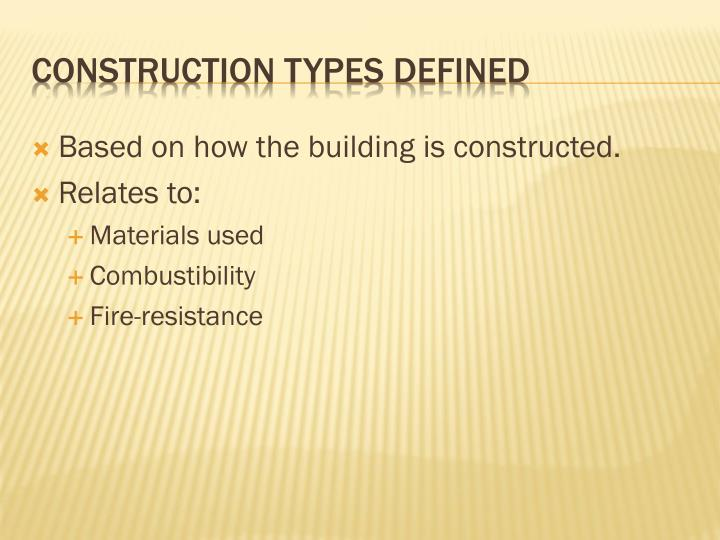 Based on how the building is constructed.