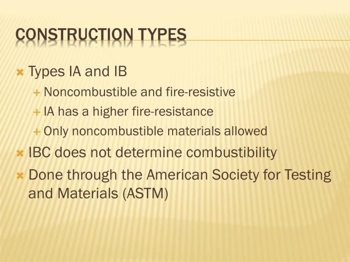 Types IA and IB