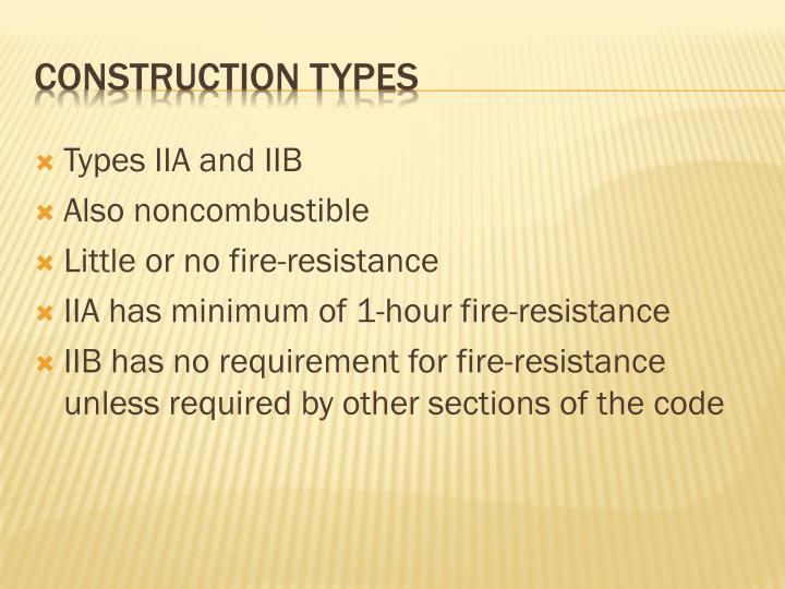 Types IIA and IIB