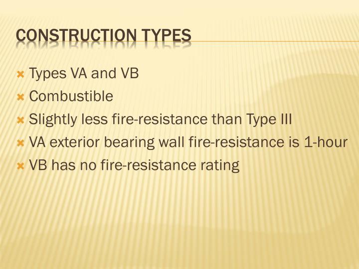 Types VA and VB