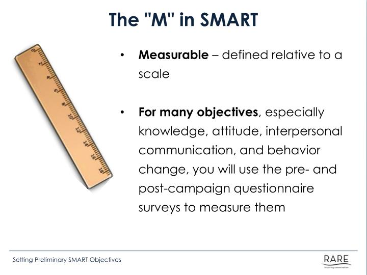 "The ""M"" in SMART"