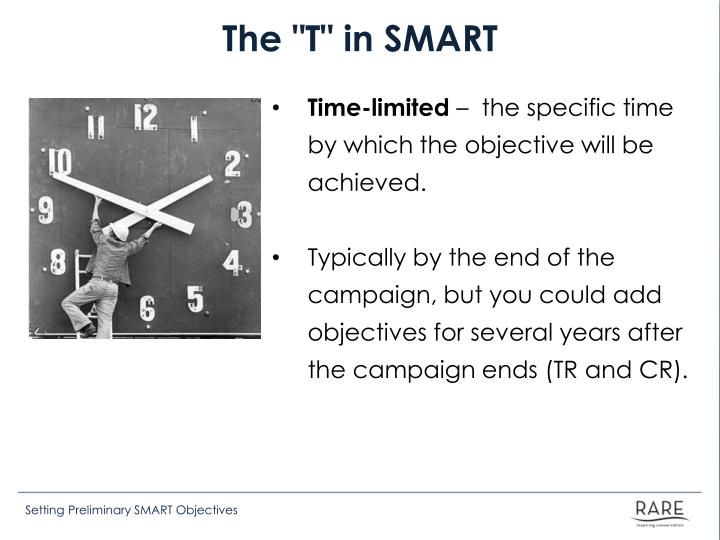 "The ""T"" in SMART"