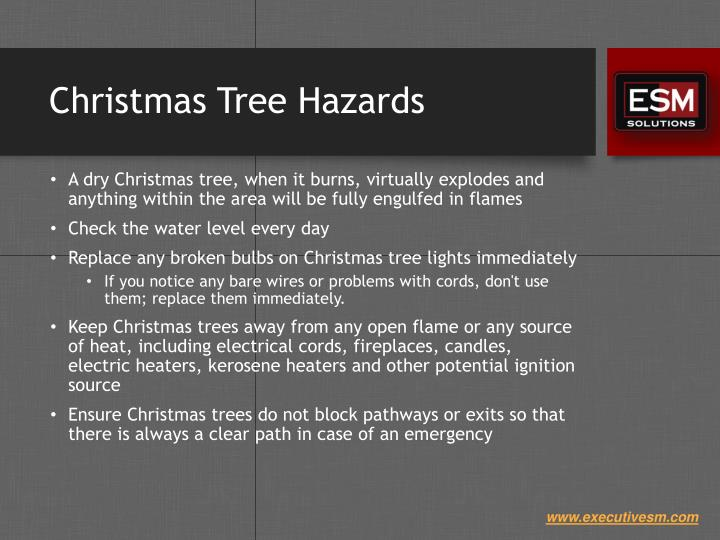 Christmas Tree Hazards