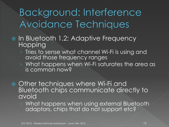 Background: Interference Avoidance Techniques