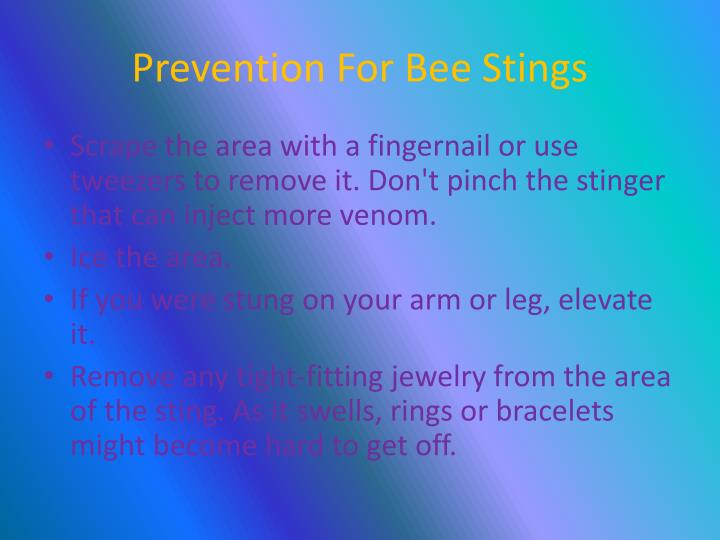 Prevention For Bee Stings