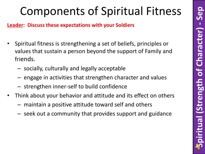 Components of spiritual fitness