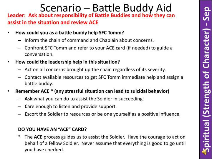 Scenario – Battle Buddy Aid