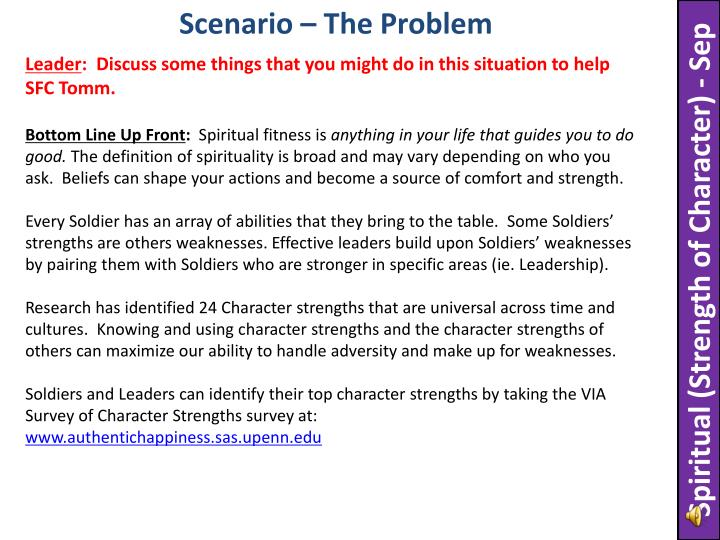 Scenario – The Problem