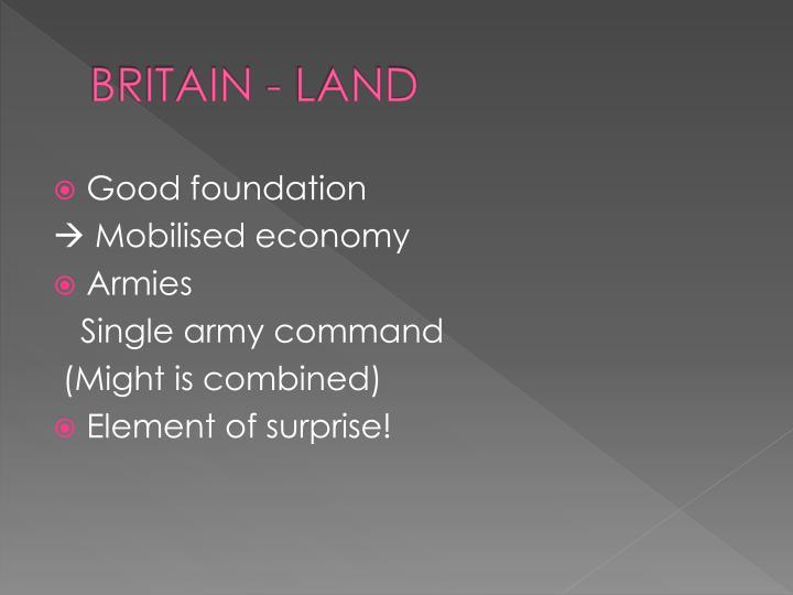 BRITAIN - LAND