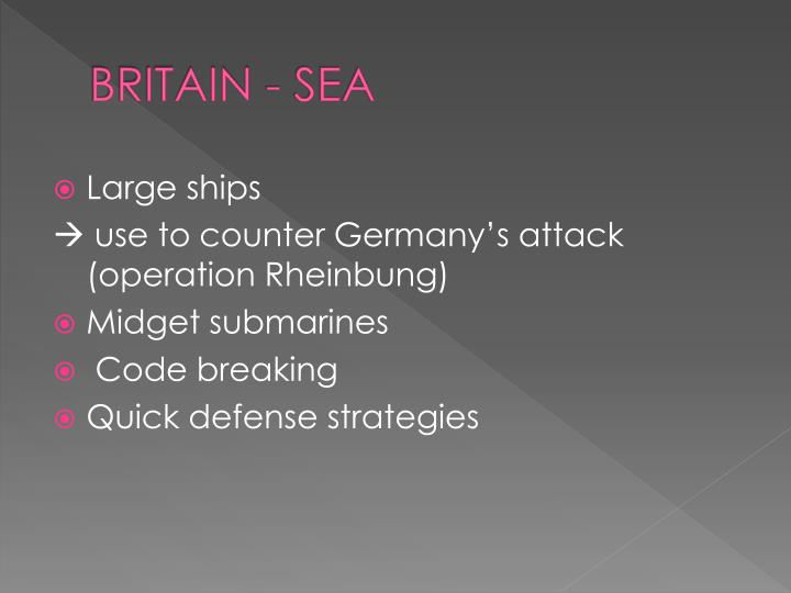 BRITAIN - SEA
