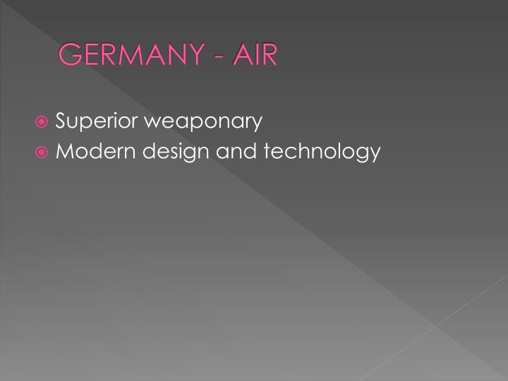 GERMANY - AIR
