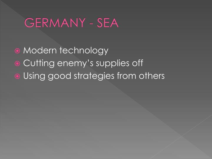 GERMANY - SEA