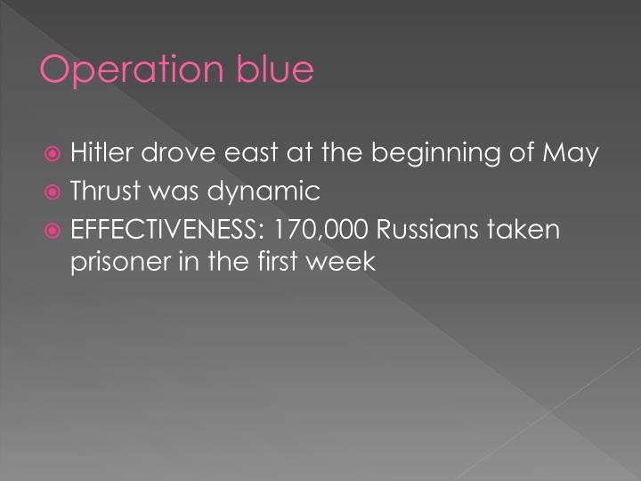 Operation blue