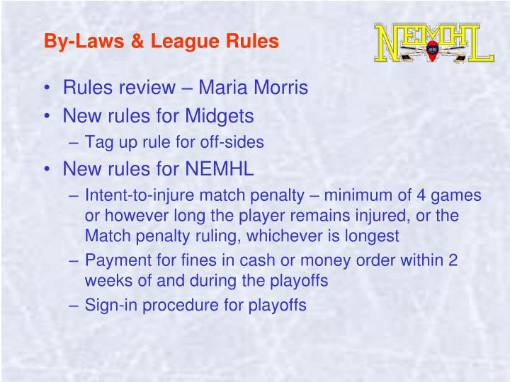 By-Laws & League Rules