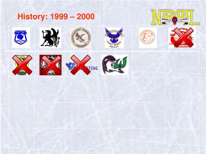 History: 1999 – 2000