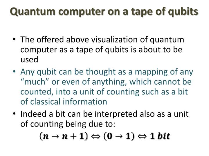Quantum computer on a tape of