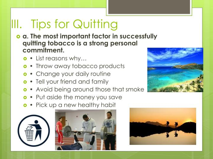 Tips for Quitting