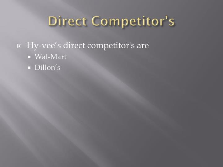 Direct Competitor's