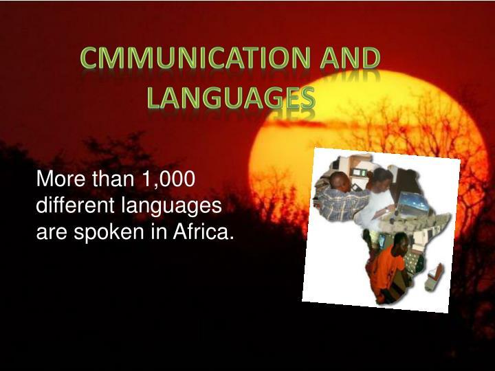 CMMUNICATION AND