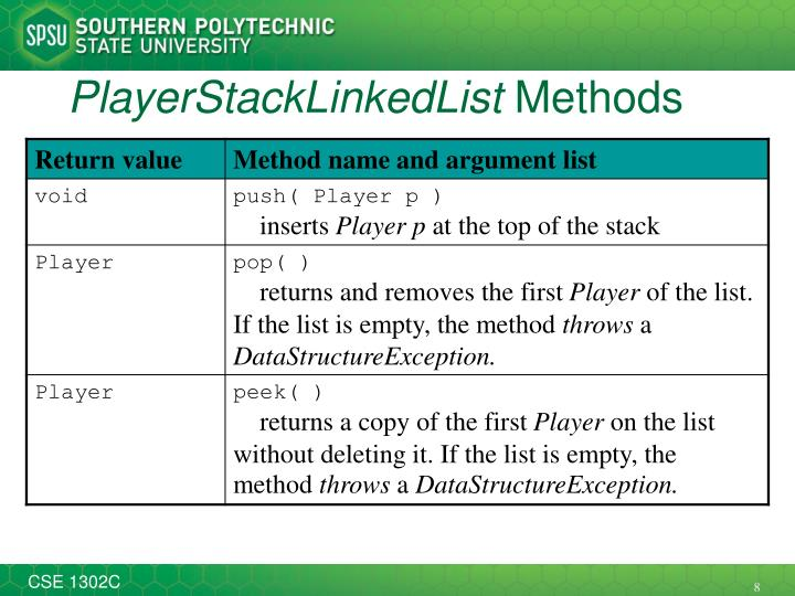 PlayerStackLinkedList