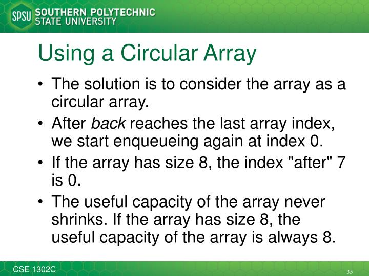 Using a Circular Array
