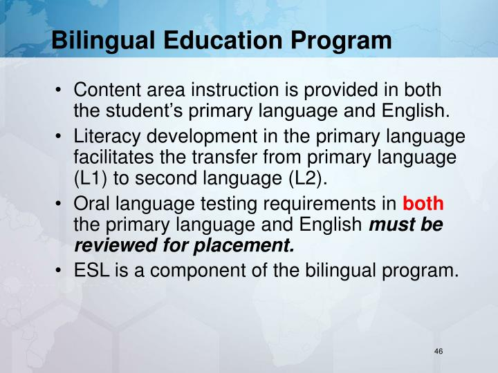 Bilingual Education Program