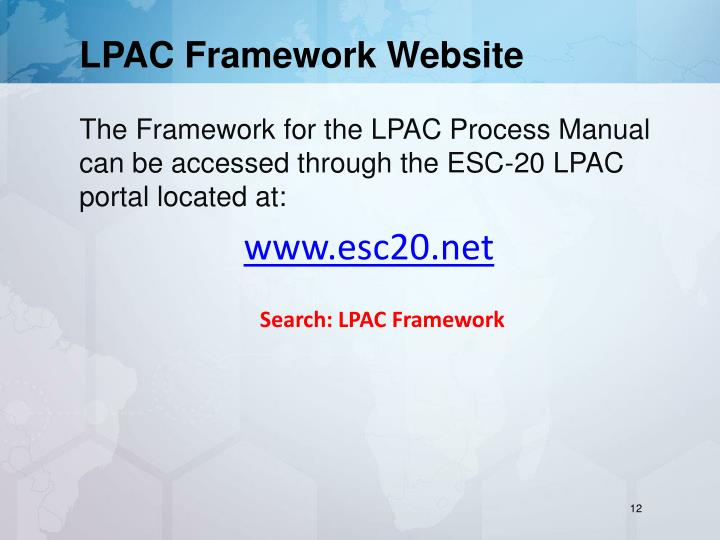 LPAC Framework Website
