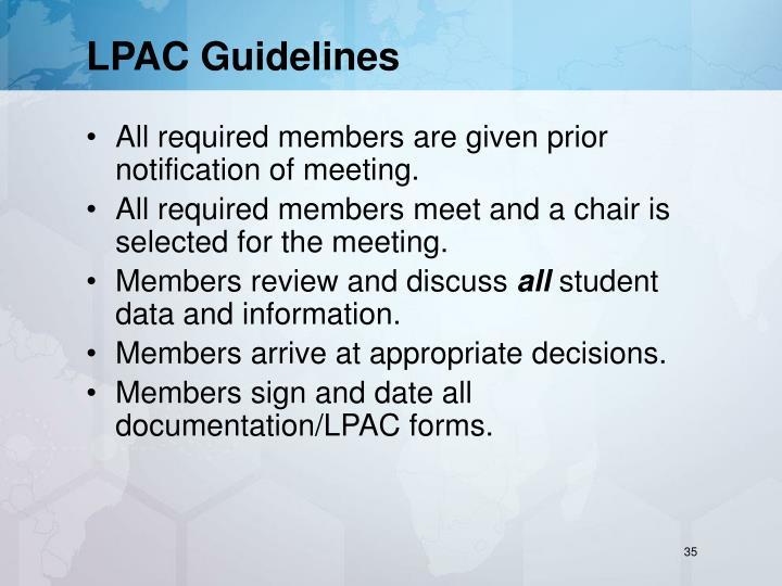 LPAC Guidelines