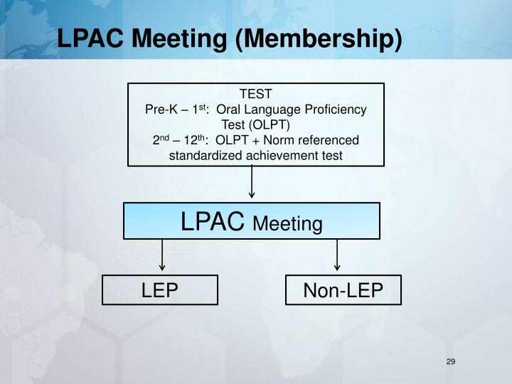 LPAC Meeting (Membership)