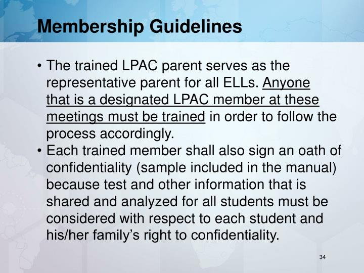 Membership Guidelines