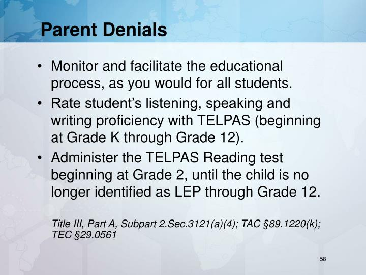 Parent Denials