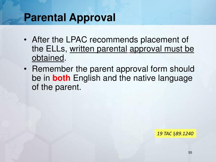 Parental Approval