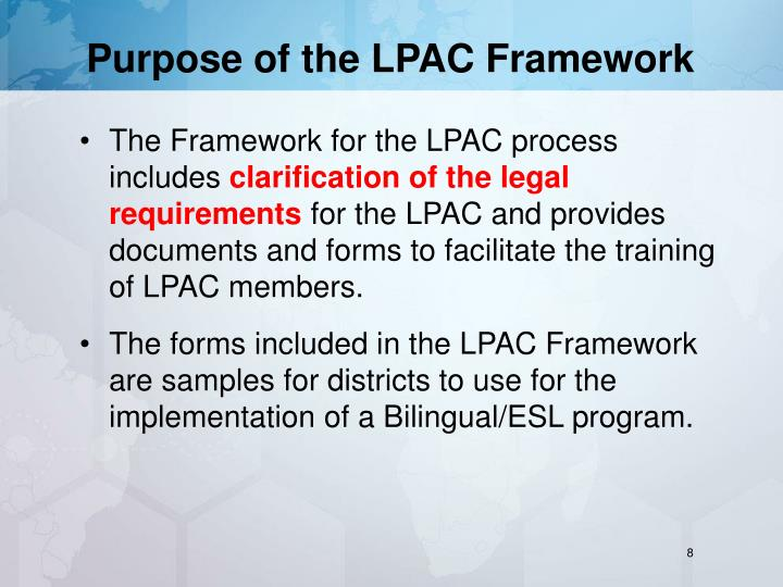Purpose of the LPAC Framework