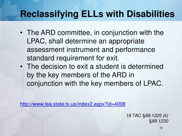 Reclassifying ELLs with Disabilities