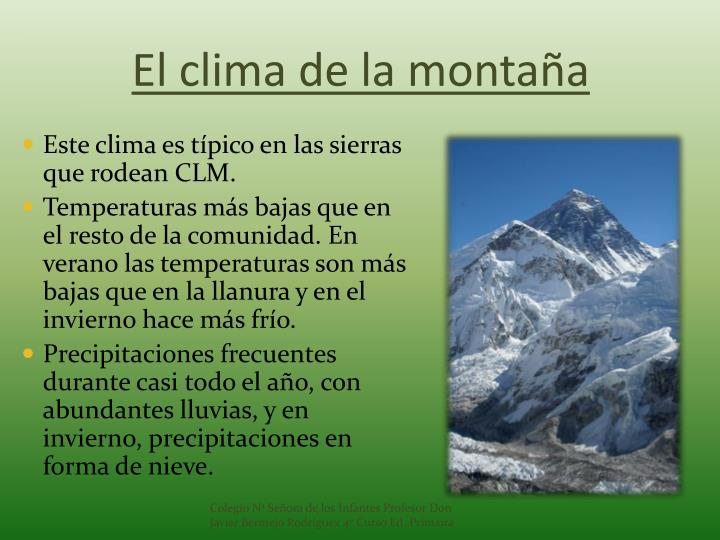 El clima de la montaña