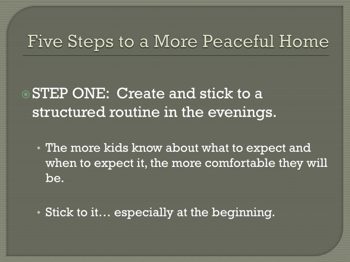 Five Steps to a More Peaceful