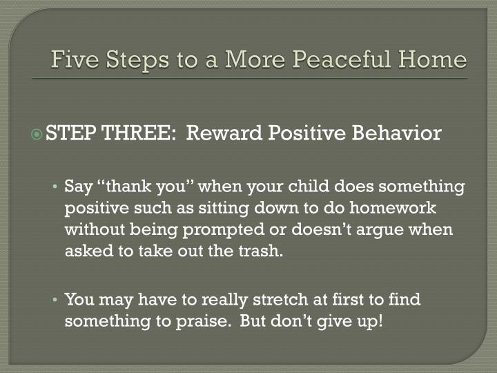 Five Steps to a More Peaceful Home