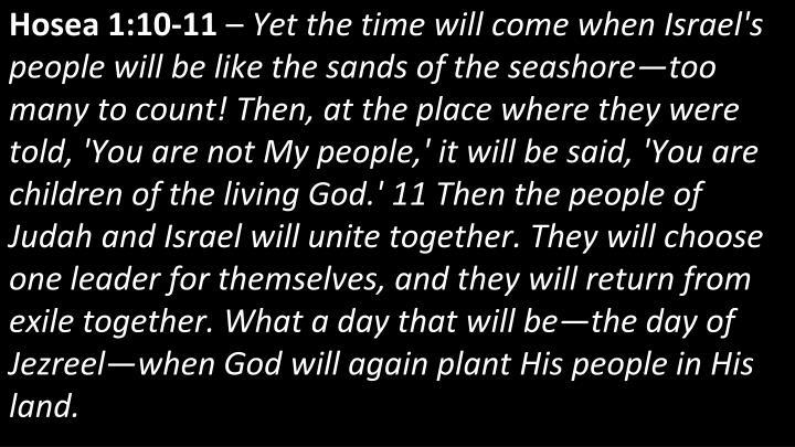 Hosea 1:10-11