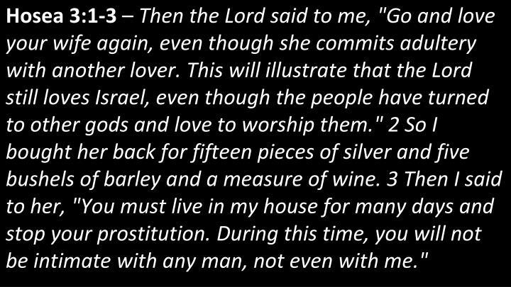 Hosea 3:1-3