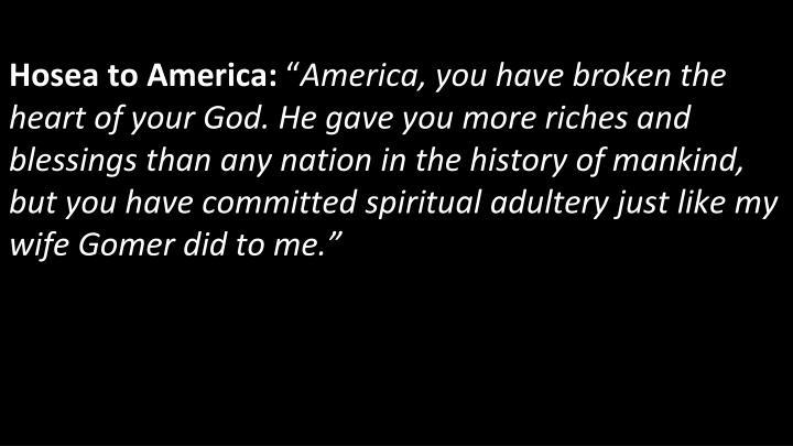Hosea to America: