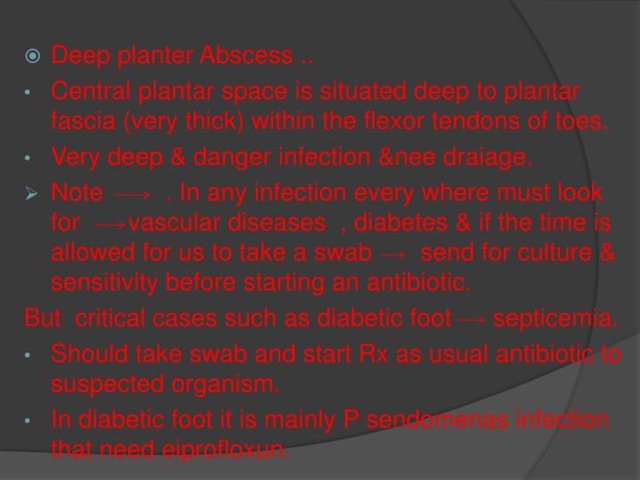 Deep planter Abscess ..