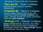 structure form of the old testament1