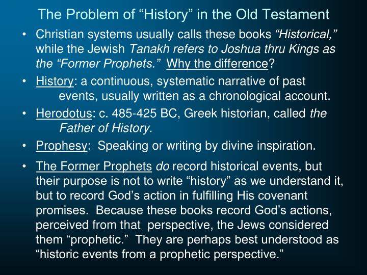 "The Problem of ""History"" in the Old Testament"