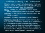 the problem of history in the old testament
