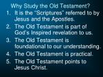 why study the old testament