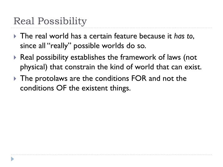 Real Possibility